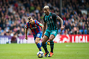 Crystal Palace #18 James McArthur, Southampton (18) Mario Lemina during the Premier League match between Crystal Palace and Southampton at Selhurst Park, London, England on 16 September 2017. Photo by Sebastian Frej.