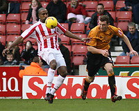 Photo: Mark Stephenson.<br />Stoke City v Wolverhampton Wanderers. Coca Cola Championship. 13/01/2007.<br />Stoke's Ricardo Fuller on the ball.