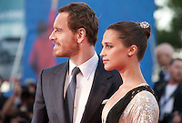 Michael Fassbender and Alicia Vikander  at the premiere of the film The Light Between Oceans at the 73rd Venice Film Festival, Sala Grande on Thursday September 1st 2016, Venice Lido, Italy.
