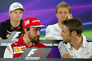 November 21-23, 2014 : Abu Dhabi Grand Prix, Fernando Alonso (SPA), Ferrari, Jenson Button (GBR), McLaren-Mercedes