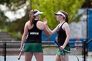 Cassidy Binder and Madeline Krausteam. Idaho High School State Tennis Championships on May 20, 2017 at Boise State University's Appleton Tennis Complex, Boise, Idaho. <br /> <br /> Boise's girls doubles team of Jennifer Wong and Greta Walser won a thriller over Borah's Cassidy Binder and Madeline Krausteam, 6-4, 3-6, 7-6 (10-8) to claim the 5A girls doubles title.