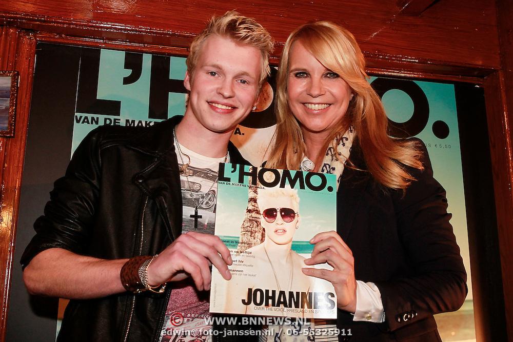 NLD/Volendam/20130423 - Presentatie L' Homo 2013, Johannes Rypma en Linda de Mol