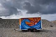 Achill island. Atlantic Drive. Keel beach, 3 km long.