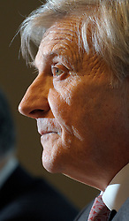 Jean-Claude Trichet, president of the European Central Bank, pauses during a news conference at the National Bank of Belgium, in Brussels, Thurdsday, Dec. 4, 2008. (Photo © Jock Fistick)..