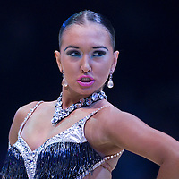 23 January 2010: Elena Salikohva performs during the Masters Bercy Latin and Ballroom (standard) Dancesport Championship 2010, at Palais Omnisports Paris Bercy, in Paris, France. .