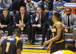 Dec 23, 2016; Morgantown, WV, USA; Northern Kentucky Norse head coach John Brannen calls out a play from the bench during the first half against the West Virginia Mountaineers at WVU Coliseum. Mandatory Credit: Ben Queen-USA TODAY Sports