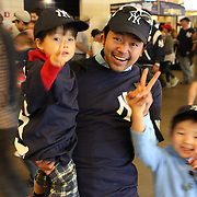 New York Yankees fans from Japan during the game with Masahiro Tanaka, New York Yankees, pitching during the New York Yankees V Tampa Bay Rays, Major League Baseball game at Yankee Stadium, The Bronx, New York. 3rd May 2014. Photo Tim Clayton