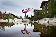 Standing Bow Pose<br /> Jackson Hole, Wyoming
