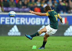 November 19, 2016 - Rome, Italy - A free kick scored by Pat Lambie (S)  during the international match between Italy v South Africa at Stadio Olimpico on November 19, 2016 in Rome, Italy. (Credit Image: © Matteo Ciambelli/NurPhoto via ZUMA Press)