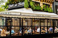 Cafe de Flore (Flora) is a famous café in the Saint-Germain-des-Prés area of Paris, France.