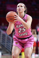 NORMAL, IL - February 10: Lexi Wallen during a college women's basketball Play4Kay game between the ISU Redbirds and the Indiana State Sycamores on February 10 2019 at Redbird Arena in Normal, IL. (Photo by Alan Look)