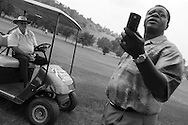 Theo Manyama, a former pro golfer, now serves with great distinction as one of the most respected tournament officials in the world. He is the only black South African to have served as an official in all four of the world's golf majors -- the U.S. Open, the British Open, the PGA Championship and the Masters.