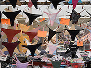 female underwear displayed at a day market Amsterdam