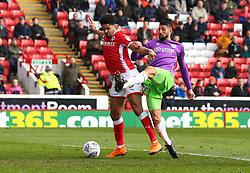 Eros Pisano of Bristol City takes on Ezekiel Fryers of Barnsley - Mandatory by-line: Robbie Stephenson/JMP - 30/03/2018 - FOOTBALL - Oakwell Stadium - Barnsley, England - Barnsley v Bristol City - Sky Bet Championship