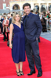 Image ©Licensed to i-Images Picture Agency. 10/06/2014 London, United Kingdom. Nick Knowles and pregnant wife Jessica arriving at the 50th anniversary screening of Zulu in London.  Picture by Stephen Lock / i-Image