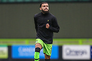 Forest Green Rovers Dominic Bernard(3) warming up during the The FA Cup match between Forest Green Rovers and Billericay Town at the New Lawn, Forest Green, United Kingdom on 9 November 2019.