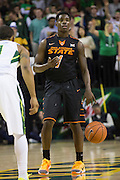 WACO, TX - JANUARY 5: Jawun Evans #1 of the Oklahoma State Cowboys brings the ball up court against the Baylor Bears on January 5, 2016 at the Ferrell Center in Waco, Texas.  (Photo by Cooper Neill/Getty Images) *** Local Caption *** Jawun Evans