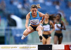 May 31, 2018 - Rome, Italy - Luiza Gega (ALB) competes in 3000m Steeplechase women during Golden Gala Iaaf Diamond League Rome 2018 at Olimpico Stadium in Rome, Italy on May 31, 2018. (Credit Image: © Matteo Ciambelli/NurPhoto via ZUMA Press)
