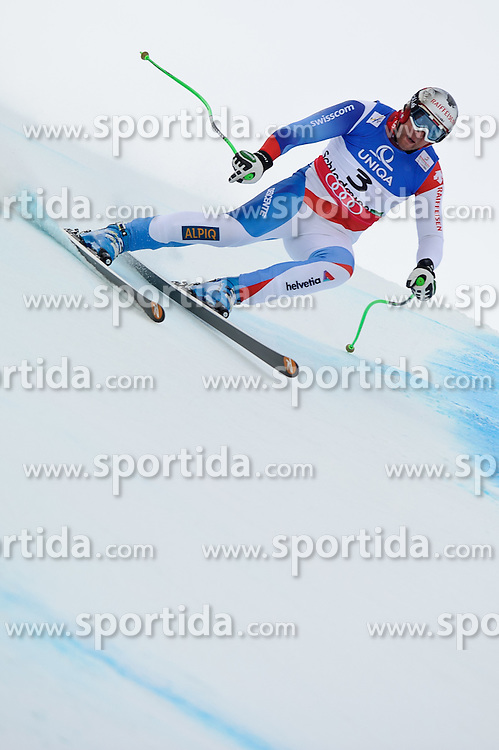 07.02.2013, Planai, Schladming, AUT, FIS Weltmeisterschaften Ski Alpin, Abfahrt, Herren, 1. Training, im Bild Silvan Zurbriggen (SUI) // Silvan Zurbriggen of Switzerland in action during 1st practice of Mens Downhill at the FIS Ski World Championships 2013 at the Planai Course, Schladming, Austria on 2013/02/07. EXPA Pictures © 2013, PhotoCredit: EXPA/ Sandro Zangrando