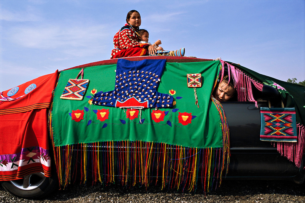 Best decorated car contestants at the Crow Fair in Montana.