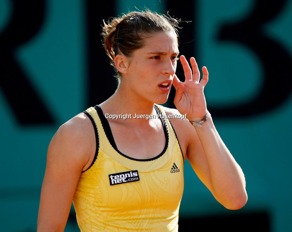 French Open 2010, Roland Garros, Paris, Frankreich,Sport, Tennis, ITF Grand Slam Tournament,  .Andrea Petkovic (GER)..Foto: Juergen Hasenkopf..