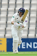 Jimmy Adams of Hampshire batting during the Specsavers County Champ Div 1 match between Hampshire County Cricket Club and Worcestershire County Cricket Club at the Ageas Bowl, Southampton, United Kingdom on 13 April 2018. Picture by Graham Hunt.