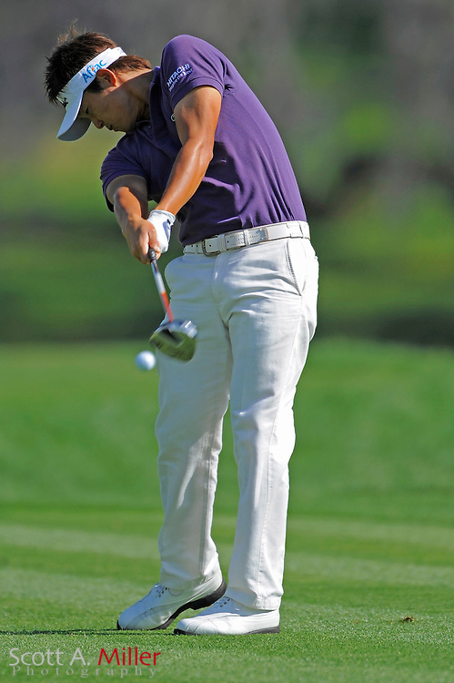March 26, 2009; Orlando, FL, USA; Ryuji Imada tees off on the 15th hole during the first round of the Arnold Palmer Invitational at the Bay Hill Club and Lodge. ©2009 Scott A. Miller