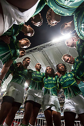 Mar 23, 2012; Hong Kong, CHINA; South Africa defeats Wales 10:0 during the pool B match on day one of the 2012 IRB Hong Kong Sevens at Hong Kong Stadium.(Credit Image: © Hing Choi So/Osports via ZUMA Wire)