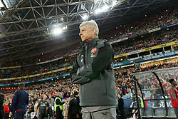 July 15, 2017 - Sydney, New South Wales, Australia - Arsenal Manager, Arsene Wenger watching his team on the field.FA Cup Champions Arsenal wins 3-1 over Western Sydney Wanderers FC at ANZ Stadium. (Credit Image: © United Images/Pacific Press via ZUMA Wire)
