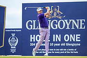 Ian Poulter (ENG) tees off on the 3rd hole during the final round of the Aberdeen Standard Investments Scottish Open at The Renaissance Club, North Berwick, Scotland on 14 July 2019.