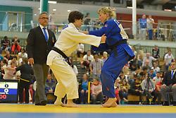 Sandrine Aurieres-Martinet, -52kg, FRA, Alesya Stepaniuk, RUS, 2016 Visually Impaired Judo Grandprix, British Judo, Birmingham, England