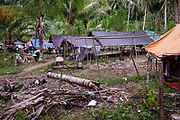 A coconut farm turned into a shelter.  1500 people were displaced and found shelter in Langaoge coconut farm when a powerful  7.5 earthquake magnitude struck off the coast of Donggala (epicentre) Central Sulawesi, Indonesia on Sept. 28th causing a tsunami and destroying many homes.