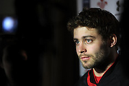 Leigh Halfpenny of Wales looks on. Wales rugby team training and press conference at the Vale, Hensol near Cardiff, South Wales on Thursday 14th March 2013.  the team are training ahead of the final RBS Six nations match against England this weekend. pic by  Andrew Orchard, Andrew Orchard sports photography,