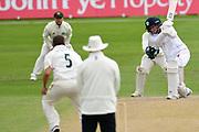 Fynn Hudson-Prentice of Derbyshire during the Bob Willis Trophy match between Nottinghamshire County Cricket Club and Derbyshire County Cricket Club at Trent Bridge, Nottingham, United Kingdon on 4 August 2020.