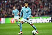 Ilkay Gundogan (8) of Manchester City during the EFL Cup Final match between Arsenal and Manchester City at Wembley Stadium, London, England on 25 February 2018. Picture by Graham Hunt.
