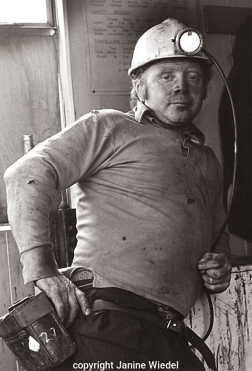 Miner Florence Coliery Stoke on Trent  Staffordshire. 1970's