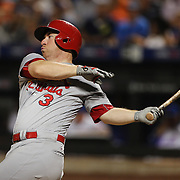 NEW YORK, NEW YORK - July 26: Jedd Gyorko #3 of the St. Louis Cardinals during the St. Louis Cardinals Vs New York Mets regular season MLB game at Citi Field on July 26, 2016 in New York City. (Photo by Tim Clayton/Corbis via Getty Images)