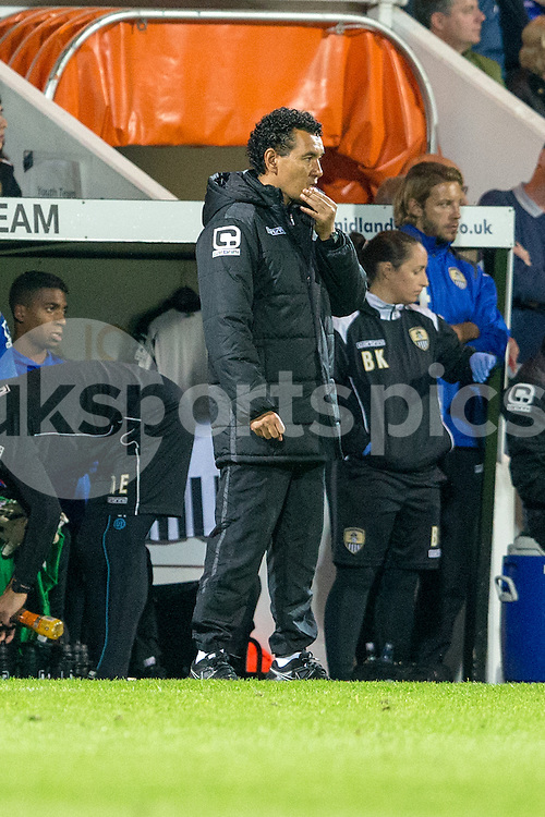 Notts County manager Ricardo Moniz during the Sky Bet League 2 match between Notts County and Mansfield Town at Meadow Lane, Nottingham, England on 14 August 2015. Photo by James Williamson.