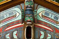 Totem poles, Totem Bight State Park, near Ketchikan, southeast Alaska USA