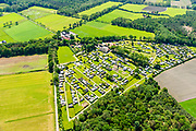 Nederland, Gelderland, Achterhoek, 29-05-2019; Achterhoek,  omgeving Winterswijk - Woold. Camping De Harmienehoeve.<br /> Achterhoek, Winterswijk - Woold area. Camping De Harmienehoeve.<br /> luchtfoto (toeslag op standard tarieven);<br /> aerial photo (additional fee required);<br /> copyright foto/photo Siebe Swart