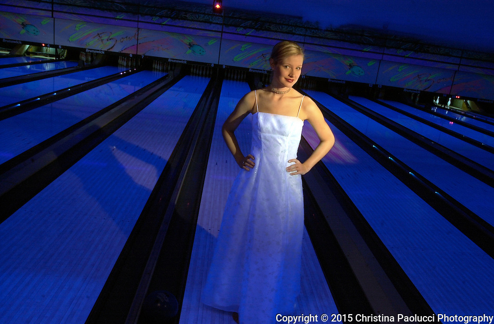 Extreme bowling is a popular activity for many prom-goers in their evening wear before and after the dance. <br />
