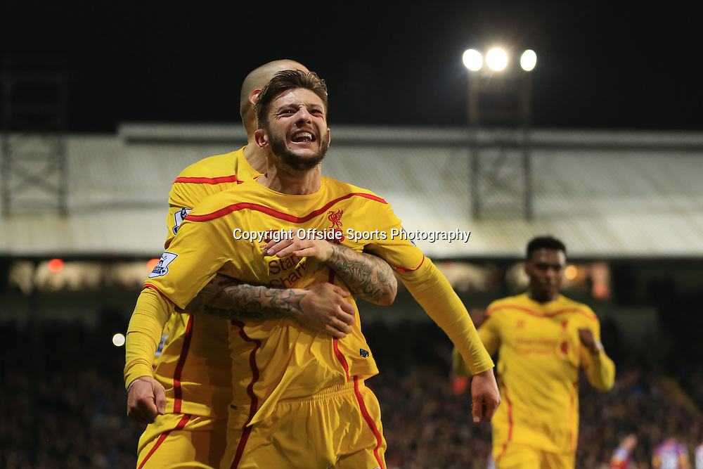 14 February 2015 - The FA Cup Fifth Round - Crystal Palace v Liverpool - Adam Lallana of Liverpool celebrates scoring a goal for 1-2 - Photo: Marc Atkins / Offside.