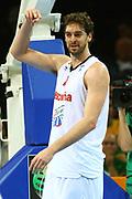 DESCRIZIONE : Kaunas Lithuania Lituania Eurobasket Men 2011 Quarter Final Round Spagna Slovenia Spain Slovenia<br /> GIOCATORE : Pau Gasol<br /> CATEGORIA : schema esultanza<br /> SQUADRA : Spagna Spain <br /> EVENTO : Eurobasket Men 2011<br /> GARA : Spagna Slovenia Spain Slovenia<br /> DATA : 14/09/2011<br /> SPORT : Pallacanestro <br /> AUTORE : Agenzia Ciamillo-Castoria/G.Matthaios<br /> Galleria : Eurobasket Men 2011<br /> Fotonotizia : Kaunas Lithuania Lituania Eurobasket Men 2011 Quarter Final Round Spagna Slovenia Spain Slovenia<br /> Predefinita :