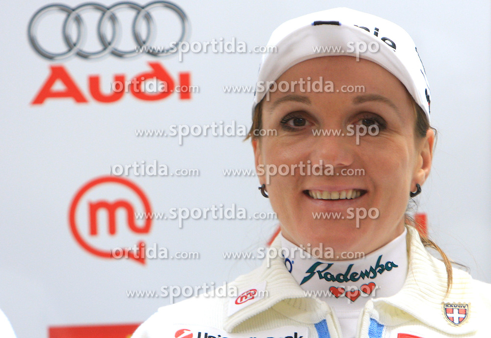 Petra Majdic at press conference of Slovenian Nordic team after her victory  in Davos (Switzerland), on December 15, 2008, in Ljubljana, Slovenia. (Photo by Vid Ponikvar / Sportida)