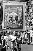 Stillingfleet Branch banner. 1992 Yorkshire Miners Gala, Barnsley.