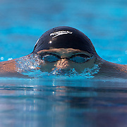 Wael Koubrousli, Lebanon, in action during the Men's 200m Breaststroke heats at the World Swimming Championships in Rome on Thursday, July 30, 2009. Photo Tim Clayton.