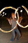 juggling with fire pois night shot.