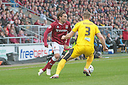 Northampton No 11 Ricky Holmes on the attack in the Sky Bet League 2 match between Northampton Town and Bristol Rovers at Sixfields Stadium, Northampton, England on 9 April 2016. Photo by Nigel Cole.