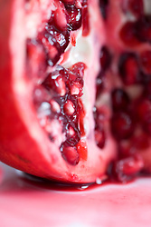 Extreme close up of a pomegranate