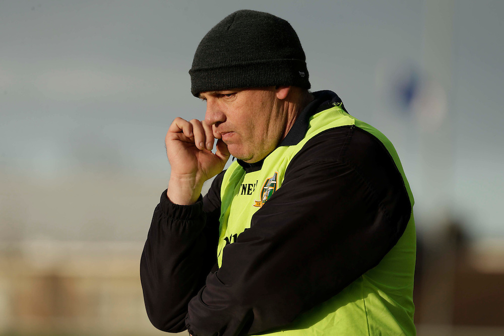 SFC at Pairc Tailteann, Navan, 16th April 2016<br /> St Patricks vs Donaghmore/Ashbourne<br /> Donaghmore Manager, Sean Kelly<br /> Photo: David Mullen /www.cyberimages.net / 2016